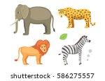 african animals cartoon vector... | Shutterstock .eps vector #586275557