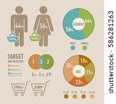 set of shopping info graphics... | Shutterstock .eps vector #586281263