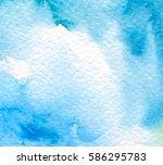 blue white watercolor paper... | Shutterstock .eps vector #586295783