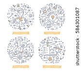 doodle vector concepts of... | Shutterstock .eps vector #586301087