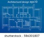 3d rendering vector... | Shutterstock .eps vector #586301807