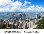 hong kong famous view | Shutterstock . vector #586304153