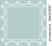 classic vector square white... | Shutterstock .eps vector #586310087