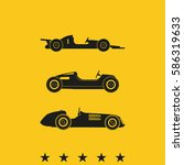 set of sport car icons. retro... | Shutterstock . vector #586319633