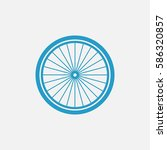 Bicycle Wheel Vector Icon
