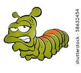 funny cartoon caterpillar | Shutterstock .eps vector #58632454