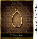 happy easter background for... | Shutterstock . vector #586325063