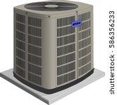 air conditioner unit | Shutterstock .eps vector #586356233
