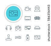 illustration of 12 technology... | Shutterstock . vector #586356443