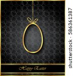 happy easter background for... | Shutterstock . vector #586361387