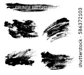 vector set of grunge brush... | Shutterstock .eps vector #586372103