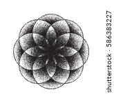 sacred geometry. lotus flower.  ... | Shutterstock .eps vector #586383227