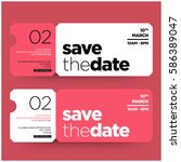 save the date minimalist modern ... | Shutterstock .eps vector #586389047