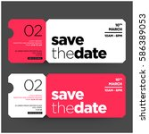 save the date minimalist modern ... | Shutterstock .eps vector #586389053