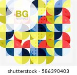colorful circle elements.... | Shutterstock .eps vector #586390403