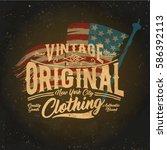 vintage college style vector... | Shutterstock .eps vector #586392113