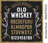 vintage label font   sample... | Shutterstock .eps vector #586395023