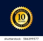guaranteed badges and tag... | Shutterstock .eps vector #586399577