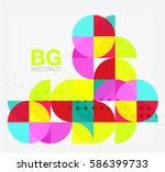 abstract background of circle... | Shutterstock .eps vector #586399733