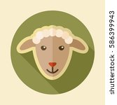 sheep flat icon. animal head... | Shutterstock .eps vector #586399943