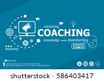 coaching related words and...   Shutterstock .eps vector #586403417