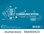 communication related words and ... | Shutterstock .eps vector #586403423