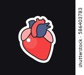 human heart  sticker. vector...   Shutterstock .eps vector #586403783