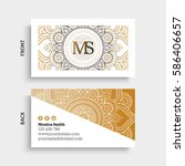 luxury business cards. vintage... | Shutterstock .eps vector #586406657