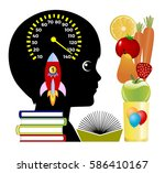 brain boosting smoothies....   Shutterstock . vector #586410167