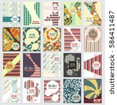 old retro vintage style... | Shutterstock .eps vector #586411487