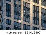 modern office building detail ...   Shutterstock . vector #586413497