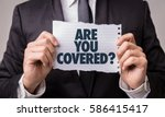 are you covered  | Shutterstock . vector #586415417