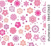 the pattern of flowers. floral... | Shutterstock .eps vector #586415663
