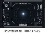 set of black and white... | Shutterstock .eps vector #586417193