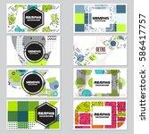memphis background style design ... | Shutterstock .eps vector #586417757