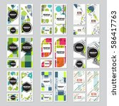memphis background style design ... | Shutterstock .eps vector #586417763