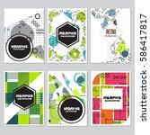 memphis background style design ... | Shutterstock .eps vector #586417817