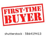 first time buyer red rubber... | Shutterstock . vector #586419413