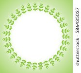 spring frame made up of green... | Shutterstock .eps vector #586435037