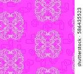endless abstract pattern.... | Shutterstock .eps vector #586435523