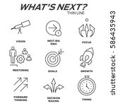 what's next icon set with big... | Shutterstock .eps vector #586435943
