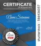 certificate template with... | Shutterstock .eps vector #586436057
