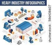 heavy industry isometric...   Shutterstock .eps vector #586438607