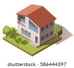vector isometric infographic... | Shutterstock .eps vector #586444397