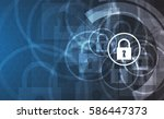 technology security concept.... | Shutterstock .eps vector #586447373