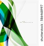 modern geometric wavy shapes on ... | Shutterstock .eps vector #586468997