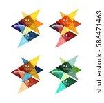 colorful vector option banner... | Shutterstock .eps vector #586471463
