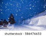 Winter Night Landscape With A...