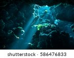 Underwater Cave Light Rays