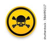 jolly roger sign. skull and... | Shutterstock .eps vector #586490117